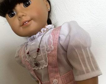 Vintage pink pleats fits American girl dolls