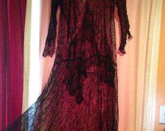 Mid century lingerie over dress