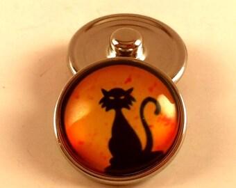 20mm Black Cat Snap Charm