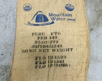 Burlap Coffee Bag, Peru, with logo (36x30)