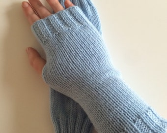 Light Blue Wrist Warmers