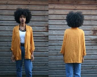 Yellow Lightweight Summer Blazer size L