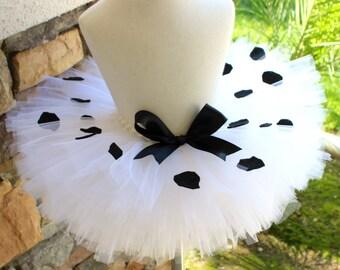 Dalmatian Tutu, Dalmatian Costume, Halloween Dalmatian, White and Black Polka Dot Tutu, White and Black Tutu, Baby Halloween, Toddler Tutu