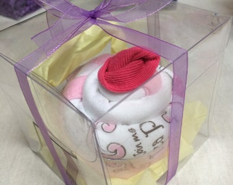 Onesie cupcakes with socks