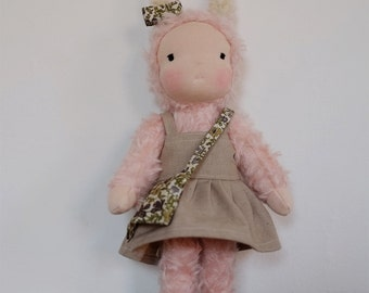 Waldorf doll, waldorf inspired, bunny doll, waldorf bunny doll handmade with natural materials, 14 in / 35 cm