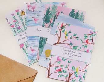 Nature Sings Illustrated Verses Notecards - Pack of 5