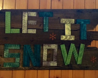 Winter Decor Reclaimed Wood Sign