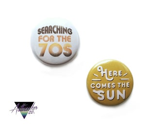 The 70s One Inch Pinback Button Set
