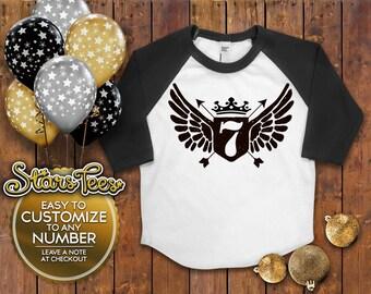 Seventh Birthday Shirt; 7th Birthday Shirt , 7th Birthday Shirt , Seven, Seventh Birthday Tee , Seven Birthday Shirt ,  Birthday Shirt , 7th