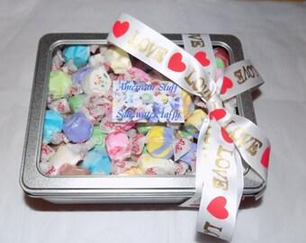 American salt water taffy heart gift tin