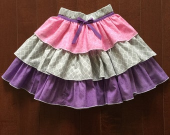 Girl's Ruffled Circle Skirt