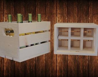Handmade Wooden Wine Crate