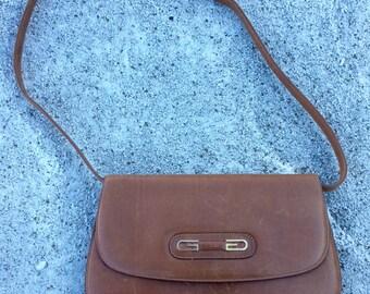 Vintage Tan Leather Gucci Purse
