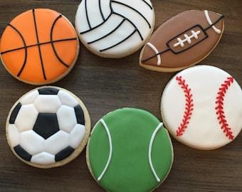 Sports Themed Cookies (1 dozen)