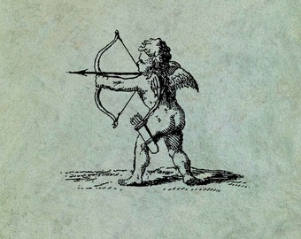 Cupid Shooting a Bow and Arrow - Antique Style Clear Stamp