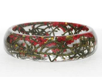 Real Flower Resin Bracelet, Real Flower Bangle, Resin Bracelet,  Flower Bracelet, Resin Jewelry, Gift for Her