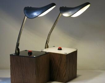 """2 bedside lamps L5005 """"Du bon pied"""""""