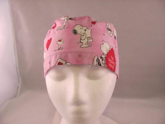 Men's Scrub Hat Snoopy Valentine