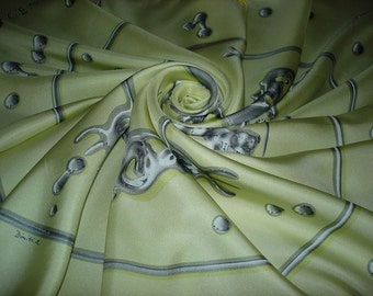 """Bright Silver"" HERMES by Rybaltchenko. Silk Hermes Scarf COLLECTION"