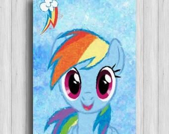 Rainbow Dash my little pony poster  kids art print
