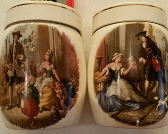 Marmalade Jars, Set of 2 Vintage Sandland Ware Hanley Staffordshire England from the Cries of England series.