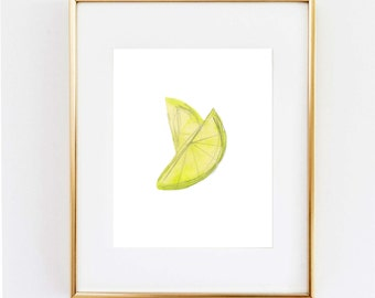 Minimalist Lemon Art
