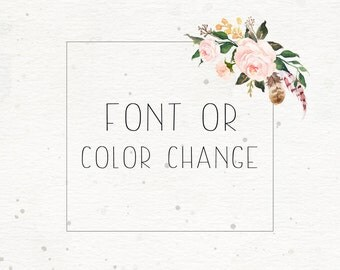 Font or color change