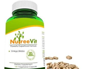 PURE 100% GINKGO BILOBA vegetable capsules (500mg) 4.99 memory enhancement