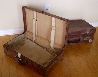 Vintage Louis Vuitton Trunk & Accompanying Case. Untouched. May be purchased as a pair.