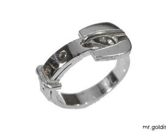beltring silver 925 belt ring buckle ca.3,5mm wide