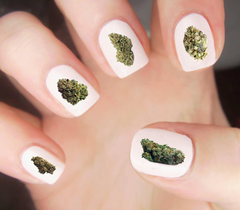 Weed Nail Decal / Weed Nug Nail Decals / Stoner Nail Decals ...