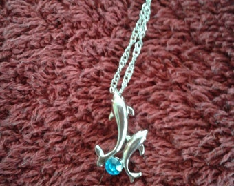 dolphin silver necklace