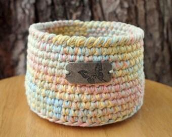 Small Crochet Basket Crocheted