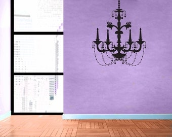 Chandelier - No 4 - Removable Vinyl Wall Decal Sticker