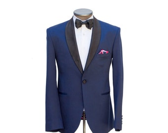 Ellis ESQ.   (Langston)  Blue tuxedo Jacket