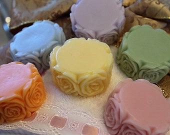 Flower Soap Favors (15+), Birthday Favors, Bridal Shower Favors, Wedding Favors, Party Favors, Goat Milk Soap Favors, Bridal Party Favors