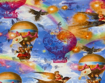 Air-balloon. Digital fantasy air-balloons on jersey. SK109