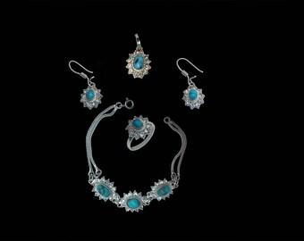 Apadana Turquoise Jewelry Set