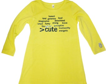 More than Cute Tunic Yellow Size 4-5