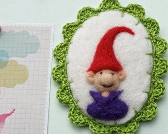 Felted gnome picture