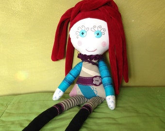 upcycling rag doll trudy
