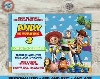 Toy Story party invitation, Toy Story Woody invitation, Buzz invitation, Tory Story printable invitation! Inv#2