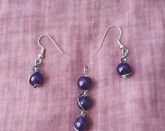 pendant with earrings set