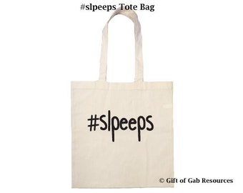hashtag slpeeps - Cotton Tote Bag Speech Pathologist Tote Bag, Speech Language, SLP, Speech Therapist