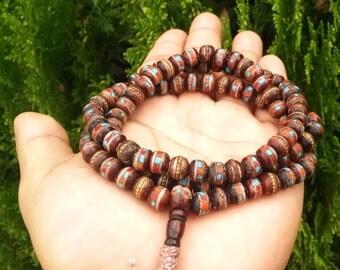 BEAUTIFUL YAKBONE MALA 108 beads