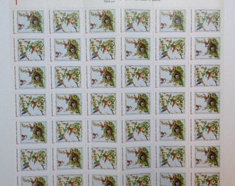 QTY 42 American Lung Association Complete sheet of spring stickers 1995