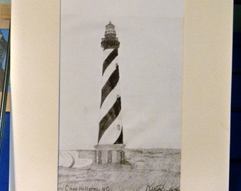Cape Hatteras, NC print 5x7 matted to 8x10