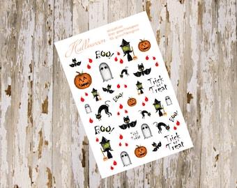 Halloween Decorative Sticker Sheet