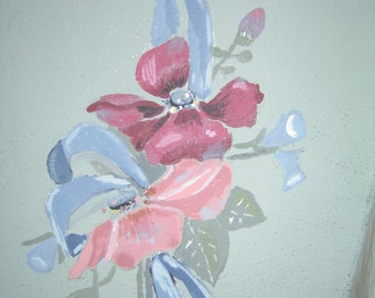 Flowers hung on the wall acylic painting 8x10