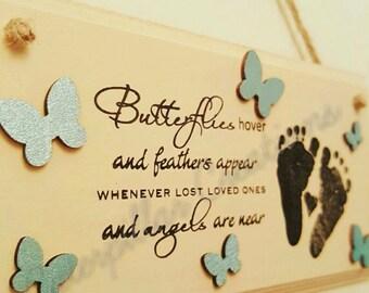 Butterflies Door Plaque
